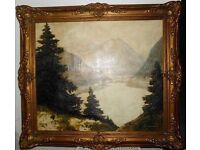 Antique original oil painting of GERMAN ARTIST HERMANN SCHMITZBONN