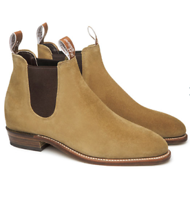 "RM Williams adelaide suede boots in ""sand"" size 6.5D for sale  Collingwood"