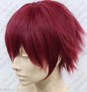 Hiiro no Kakera Takuma Onizaki Wine Red Cosplay Wig T1010