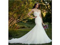 Flattering Fit & Flare Essence of Australia Wedding Dress -Size8