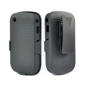 BLACKBERRY CURVE 8520 8530 9300 9330 RIBBED CASE & BELT CLIP HOLSTER WITH STAND