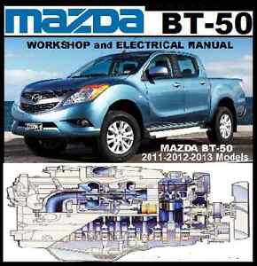 MAZDA BT50 2011-2012-2013 WORKSHOP-ELECTRICAL REPAIR MANUAL BT-50 CDROM
