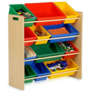 12-Bins Kids Storage Organizer (colorful shelf)