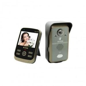 Weekly Promotion ! KIVOS KDB302 WIRELESS VIDEO DOOR PHONE 3.5 DISPLAY OUTDOOR BELL CAMERA