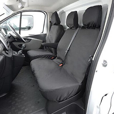 Renault Trafic Nylon Heavy Duty Tailor Fitted Van Seat Covers Waterproof