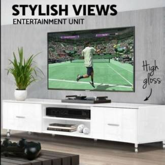 High Gloss TV Unit Stand Entertainment Modern Lowline Cabinet New