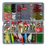 119 Pcs Bionic Fishing Lure Tackle Kit Set Minnow Crank Spoon Bait Spinner Lure