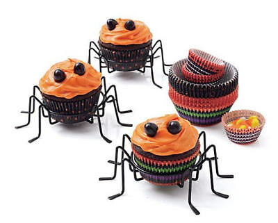 Cupcake For Halloween (Spider Cupcake Holders ~ Set of 4 ~ Perfect For Spiderman Or Halloween)