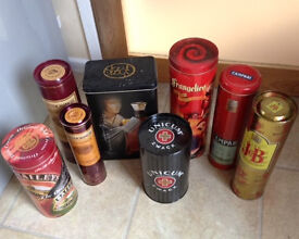 JOB LOT of collectable storage Tins - Spirits, Whisky etc
