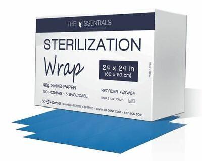 House Brand Esw24 Csr Sterilization Wraps Smms Paper 24 X 24 100pk