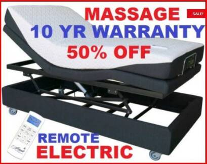 Electric Lift Bed Long Single New With Massage. RENT OPTION