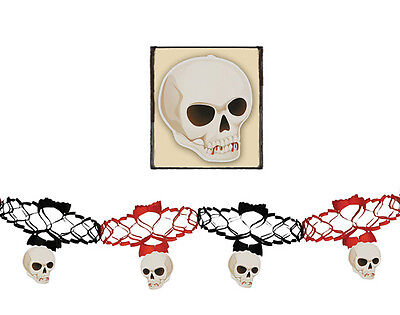 Guirlande tete de mort  décoration halloween - Guirlande De Halloween