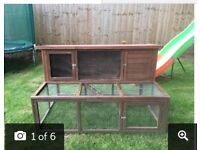 5ft rabbit hutch with run