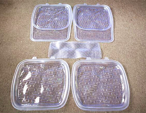 Universal Car Clear Front Rear Foot Mat Rear Middle Foot Mat for 5-seat Covers