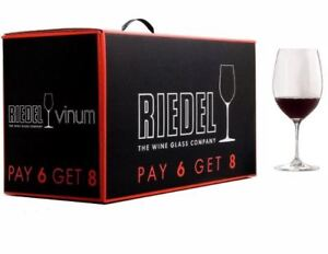 NEW Wine Glasses 8 set RIEDEL - for red wine. Never used. In box