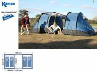 Kampa Minnis 4 man tent - Brand New £220 or best offer - perfect for summer camping & festivals