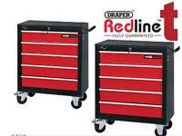 2 x Draper 80600 5 Drawer Roller Cabinet Tool Chest