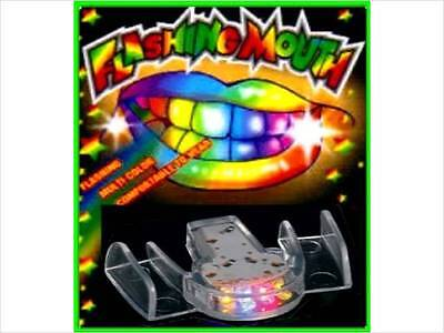 100 Flashing Mouth Piece Guard Favors Glow Blinking Rave Party EDC - WHOLESALE