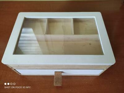 Natural Wood All Type Jewelry Display Case Accessories Storage Box With Drawer