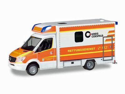 Herpa 093675 H0 LKW Mercedes Sprinter Fahrtec RTW Rettungsdienst Dülmen