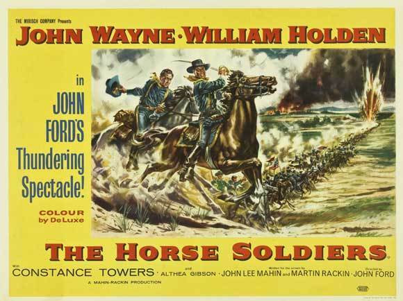 THE HORSE SOLDIERS Movie POSTER 30x40 John Wayne William Holden Hoot Gibson