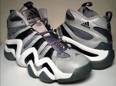 buy popular da53d a85c7 RARE Kobe Bryant Crazy 8 Adidas Basketball Shoes Sz 9 Black gray White Suede