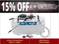 DRAPER 34677 Broadcast Sprayer 98L 12V DC ATV Spot