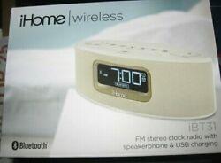 iHome iBT31 Clock Radio - FM - USB