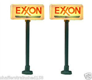 Model-Power-8579-Lighted-Gas-Station-Signs-Exxon-N-MIB