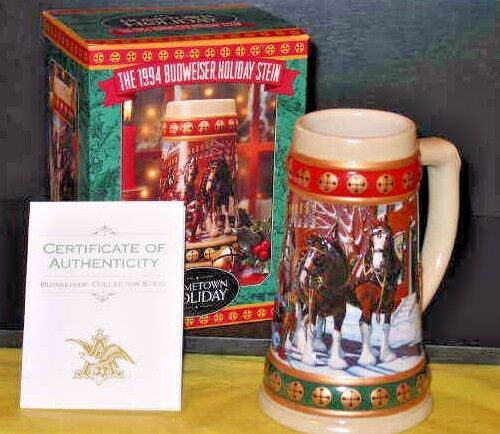 Budweiser 1994 Holiday Stein   CS211