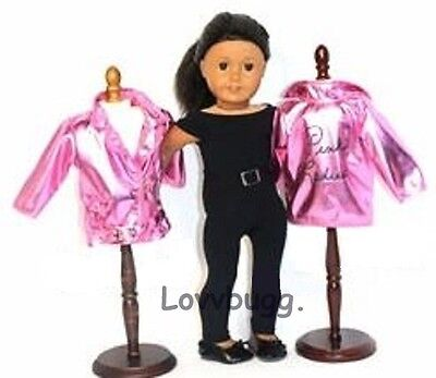 "Lovvbugg Pink Ladies Grease Costume Complete Set for 18"" American Girl Doll Clothes"