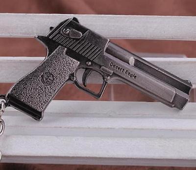 Desert Eagle Pistol Keychain Military Alloy Weapon Model Metal KeyRing Pendant *