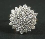 2 Carat Diamond Cluster Ring