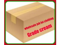 WHOLESALE JOB LOT OF WOMEN`S AND MAN`S CLOTHING 50 KG GREAT CREAM PERFECT FOR RESALE