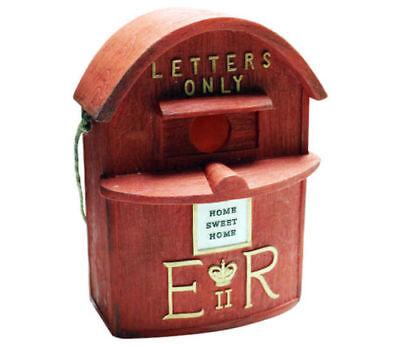 Novelty Red Letter Post Box Bird House Hatching & Nesting for Small Garden Birds