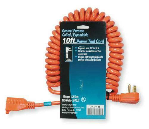 Retractable Extension Cord >> Coiled Extension Cord | eBay