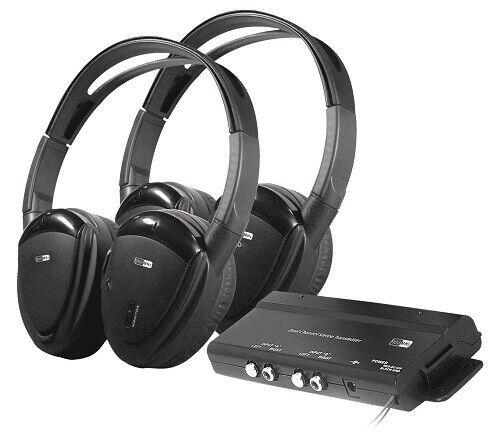 Farenheit HP-902RFT Set of 2 RF Wireless Headphones Transmitter 2-Channel