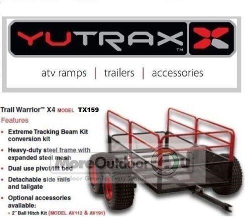 TX159 YUTRAX X4 Steel Mesh ATV Trail 4 Wheel Yard Cart Trailer Freight READ AD