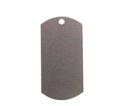 Inch x 2 Inch Dog Tag with 1 Hole aluminum Stamping Blank (RMP) [50 pack]