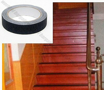 1 Inch X 16 Ft Non Slip Tape Sand Strip Stairs Ladder Grip Anti Skid Sticker T53