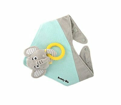 Malarkey Kids Buddy Sensory Teething Toy 3 in 1 Bandana Drool Bib Eli Elephant