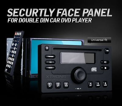 """Security Dummy Face Panel Cover for Double 2DIN 7"""" Car Radio Stereo DVD Player"""