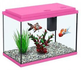 Pink fish tank 13 litres