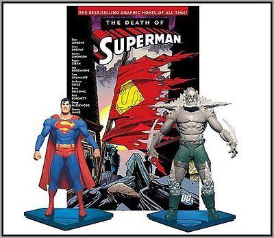 DC Direct Death of Superman VS Doomsday Figure Collector Set + Comic TP book