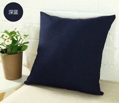 Suede Pillow Cover (Suede Nap Pure Color Pillow Cases Cushion Cover Home Decor Sofa 50x50CM AM5 )