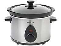 Prolex Slow Cooker 2.5L Removable Ceramic Pot - NEW IN BOX