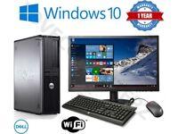 256 SSD 8GB Ram Intel Quad Core i5 12 Months Warranty Desktop Computer Microsoft Office