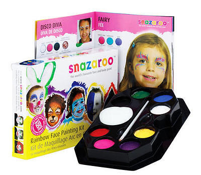 Rainbow Face Paint Kit Set Gay Pride Fancy Dress Clown Makeup](Rainbow Face Paint Halloween)