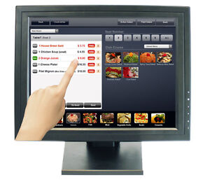 "15"" Touch Screen POS TFT LCD TouchScreen Monitor Restaurant Bar"