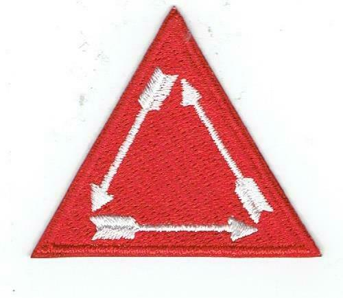 """ORDER OF THE ARROW - OA - 2"""" RED """"VIGIL"""" Hat Patch - Brand NEW & Very MINT!!!!"""